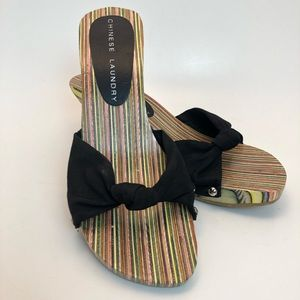 Chinese Laundry   Colorful Wooden Sandals